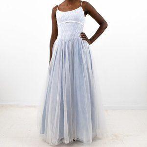 Vintage 90s 2 Cinderella Ball Gown Dress Blue
